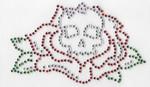Rhinestone Applique - Skull & Rose