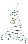 Rhinestud Applique - Christmas Tree