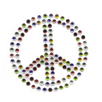 Rhinestud Applique - Peace Symbol