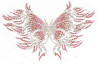 Rhinestud Applique - Fire Butterfly
