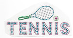 Rhinestud Applique - Tennis