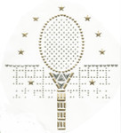 Rhinestud Applique - Tennis Racket