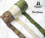 "Jacquard Ribbon 1 9/16"" (40mm) Fortius Clergy Shamrock"