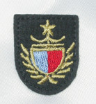 Iron On Patch Applique - Crest Nautical Blue & Red