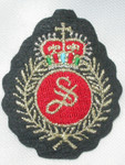 Iron On Patch Applique - Crest with Laurel & Crown