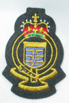 Iron On Patch Applique - Crest with Blue Flag