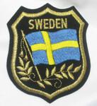 Iron On Patch Applique - SWEDEN Flag Crest