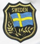 Iron On Patch Applique - SWEDEN Flag Crest