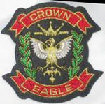 Iron On Patch Applique - Crown Eagle Crest