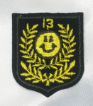 Iron On Patch Applique - Crest with Smiley