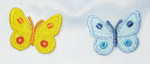 Iron On Patch Applique - Butterfly Dot Wings *Colors*