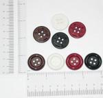 """Button 1"""" Flat 4 Hole *Colors* Per Piece"""