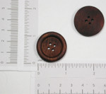 "Button 1 1/8"" Flat 4 Hole Wooden - Mahogany Per Piece"