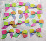 "Grosgrain Bow Rainbow Colors 4"" x 2"" approx 12 Pack"