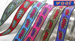 "Jacquard Ribbon 15/16"" WOOF *Colors*"