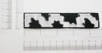 Iron On Patch Applique - Cow Pattern Strip Pocket Accent