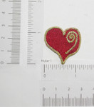 Iron On Patch Applique - Poker Card Suit Heart