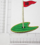 Iron On Patch Applique - Golf 18th Hole