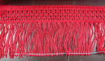 "Chainette Fringe 4 7/8"" Drop Red Per Yard"