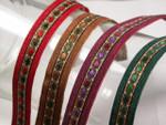 "Jacquard Ribbon 5/8"" Colors & Metallic 12 Yards"