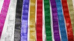 "Jacquard Ribbon 1"" (25mm) Metallic Chevrons *Colors*"