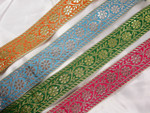 "Jacquard Ribbon 2"" (50mm)  Metallic Floral  *Colors*"