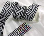 """Jacquard Ribbon 2"""" Monochrome Fun (TJR1004) Greek Key"""