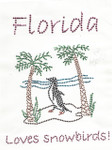 "Rhinestud Applique - ""Florida Loves Snowbirds"""