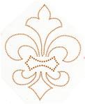 Rhinestud Applique - Fleur de Lys Gold
