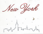 Rhinestud Applique - New York Skyline