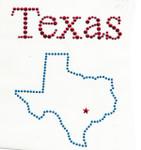 Rhinestud Applique - Texas