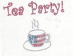 Rhinestud Applique - Tea Party