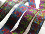 "Jacquard Ribbon 1 5/16"" (33mm) Owl *Colors* Priced Per Yard"