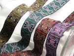"Jacquard Ribbon 1 5/16"" (33mm)  Hearts Abound *Colors* Priced Per Yard"