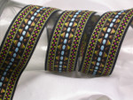 "Jacquard Ribbon 1 1/2"" (37mm) Heavy Embroidered Priced Per yard"