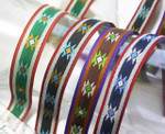 "Jacquard Ribbon 3/4 "" (20mm) Native Star Design priced Per Yard"