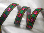 "Jacquard Ribbon 3/4 "" (20mm) Heavy Emb with Border priced Per Yard"