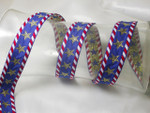 "Jacquard Ribbon 1"" (25mm) Stars & Stripes Priced Per yard"