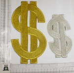 Iron On Patch Applique - Dollar Sign *Colors* Giant Sizes