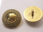 Button 1 1/4 (31.75mm) Aged Gold Domed Shank  - Per Piece