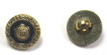"""Button 5/8"""" (15.8mm) Gold with Black Ring - Per Piece"""