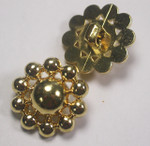 "Button 1"" (25mm) Ball Cluster Gold  Fancy  - Per Piece"