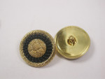 "Button 3/4"" (19mm) Gold with Black Circle detail - Per Piece"