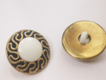 "Button 13/16"" (20.6mm)  Gold with White Center  - Per Piece"