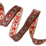 "Jacquard Ribbon 7/8"" (22Mmm) Indian Star Priced Per Yard"