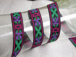 "Jacquard Ribbon 3/4"" (19MM) Multi Aztec - Priced Per yard"