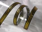 """Jacquard Ribbon 1/2"""" Metallic Gold & Black"""