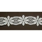 """Venise Lace 1 1/2"""" Ivory Floral 6 Yds"""