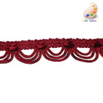 "Braid 1 1/4"" Looped Fancy Red"