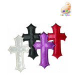 Iron On Patch Applique - Cross Satin Medium *Colors*